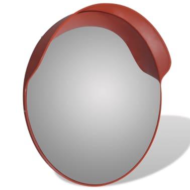 Konveksno vanjsko plastično prometno ogledalo, narančasto, 60 cm[3/5]