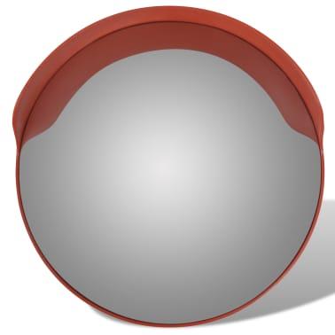 Konveksno vanjsko plastično prometno ogledalo, narančasto, 60 cm[2/5]