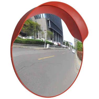 Konveksno vanjsko plastično prometno ogledalo, narančasto, 60 cm[1/5]