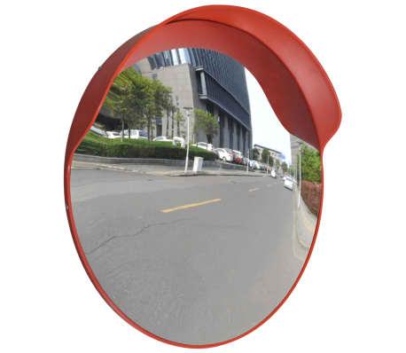 Konveksno vanjsko plastično prometno ogledalo, narančasto, 60 cm