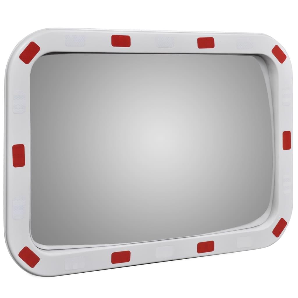 la boutique en ligne miroir convexe rectangle avec r flecteurs 40 x 60 cm. Black Bedroom Furniture Sets. Home Design Ideas