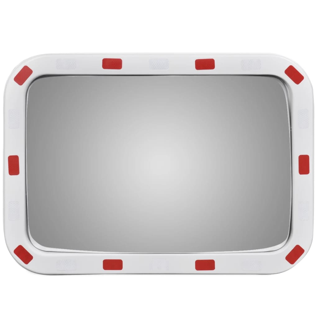 Acheter miroir convexe rectangle avec r flecteurs 40 x 60 for Miroir 40 cm