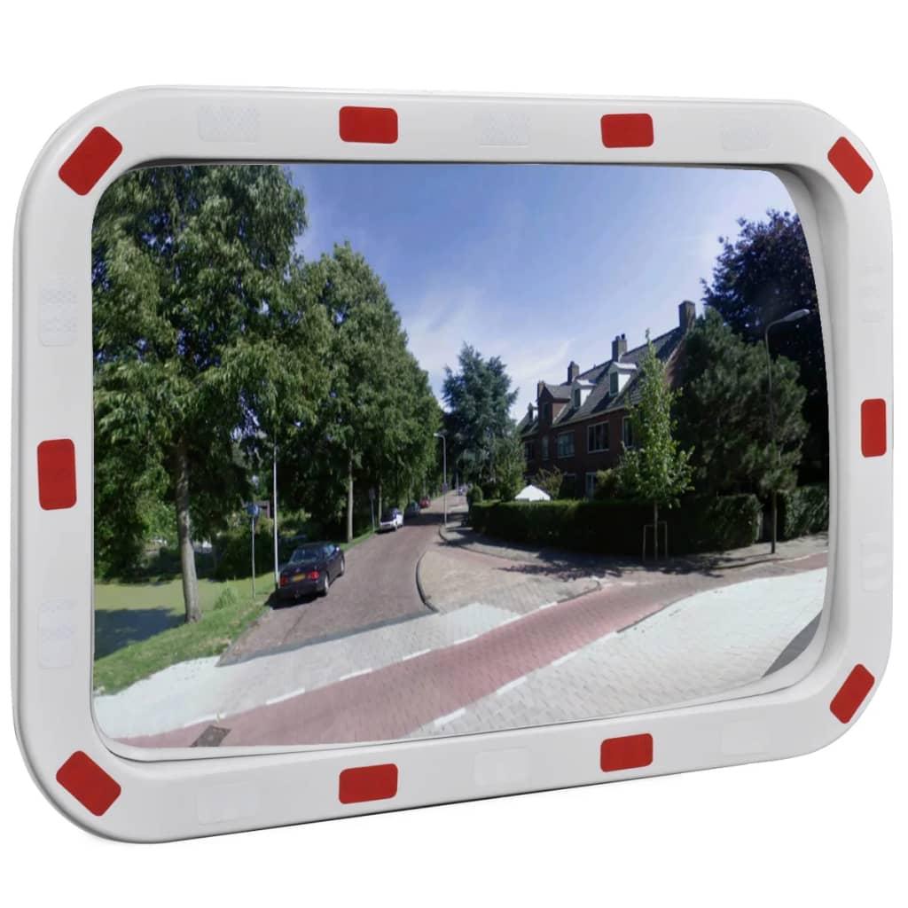 vidaXL Konvex négyszögletes közlekedési tükör fényvisszaverőkkel 40 x 60 cm