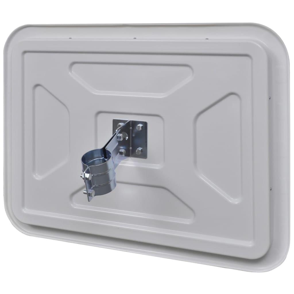 Espejo convexo rectangular para el tr fico con reflectores for Espejo 140 x 80