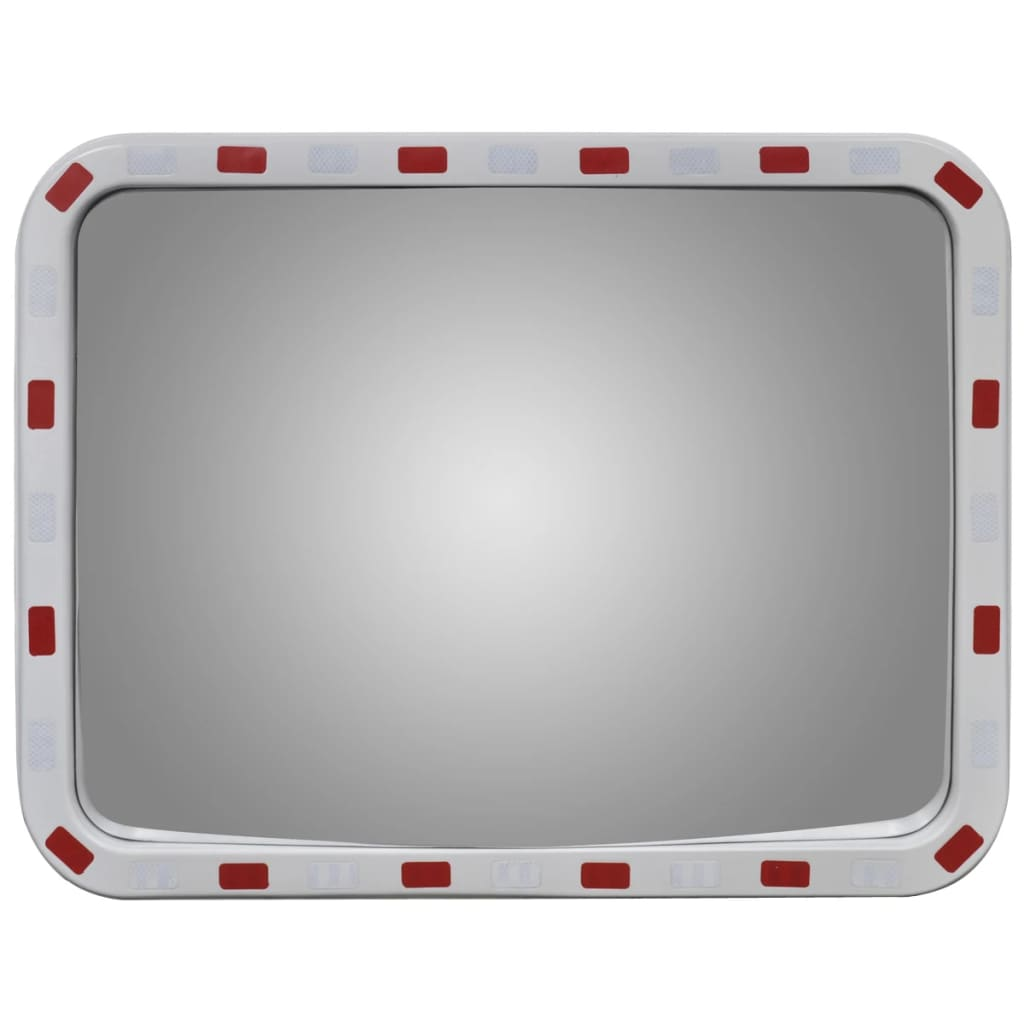 Convex traffic mirror rectangle 60 x 80 cm with reflectors for Mirror 60 x 80