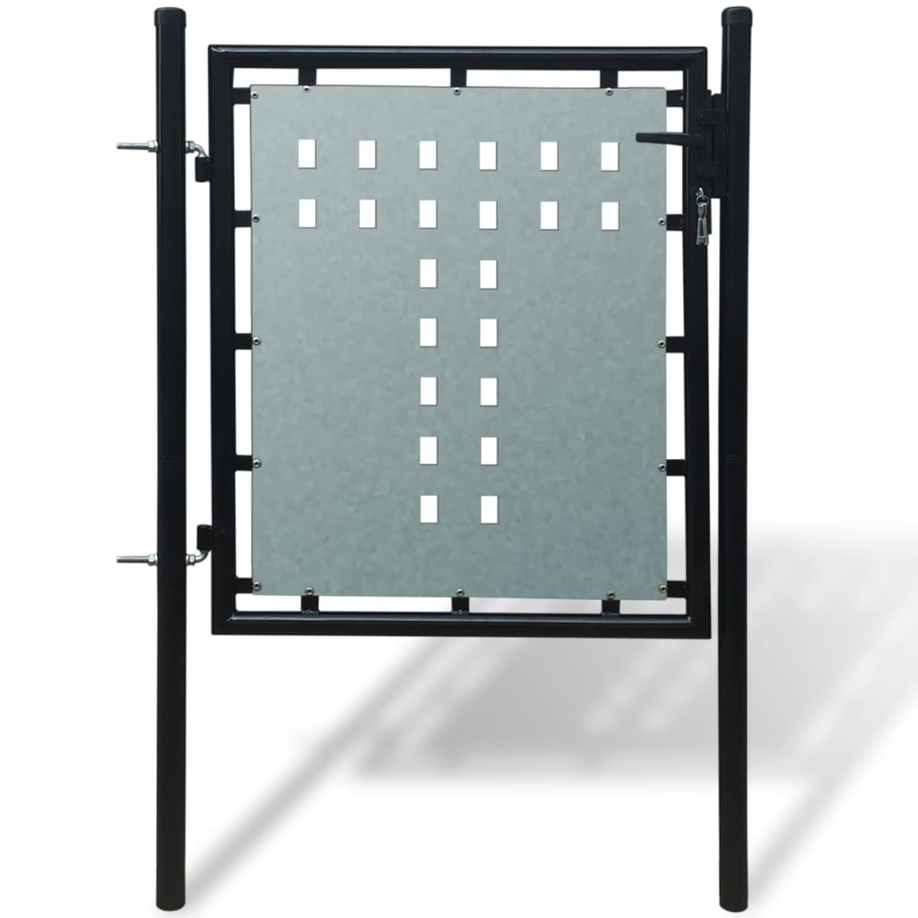 vidaXL 1 ajtós kapu 100 x 150 cm fekete