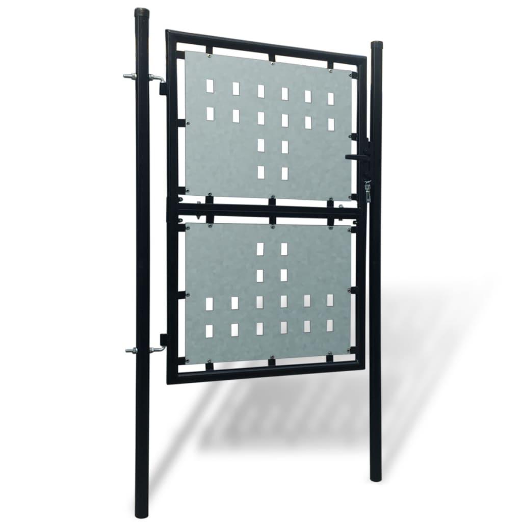 la boutique en ligne portillon de jardin single noir 100 x 200 cm. Black Bedroom Furniture Sets. Home Design Ideas