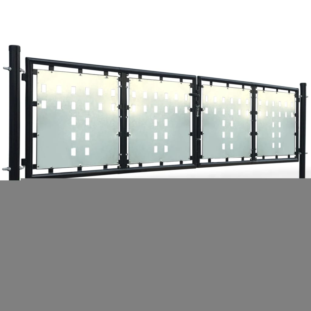 La boutique en ligne portillon de jardin double noir 300 x for Portillon solde