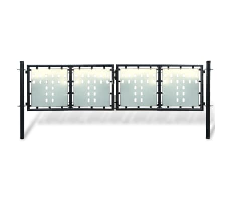 Acheter portillon de jardin double noir 300 x 150 cm pas for Acheter portillon