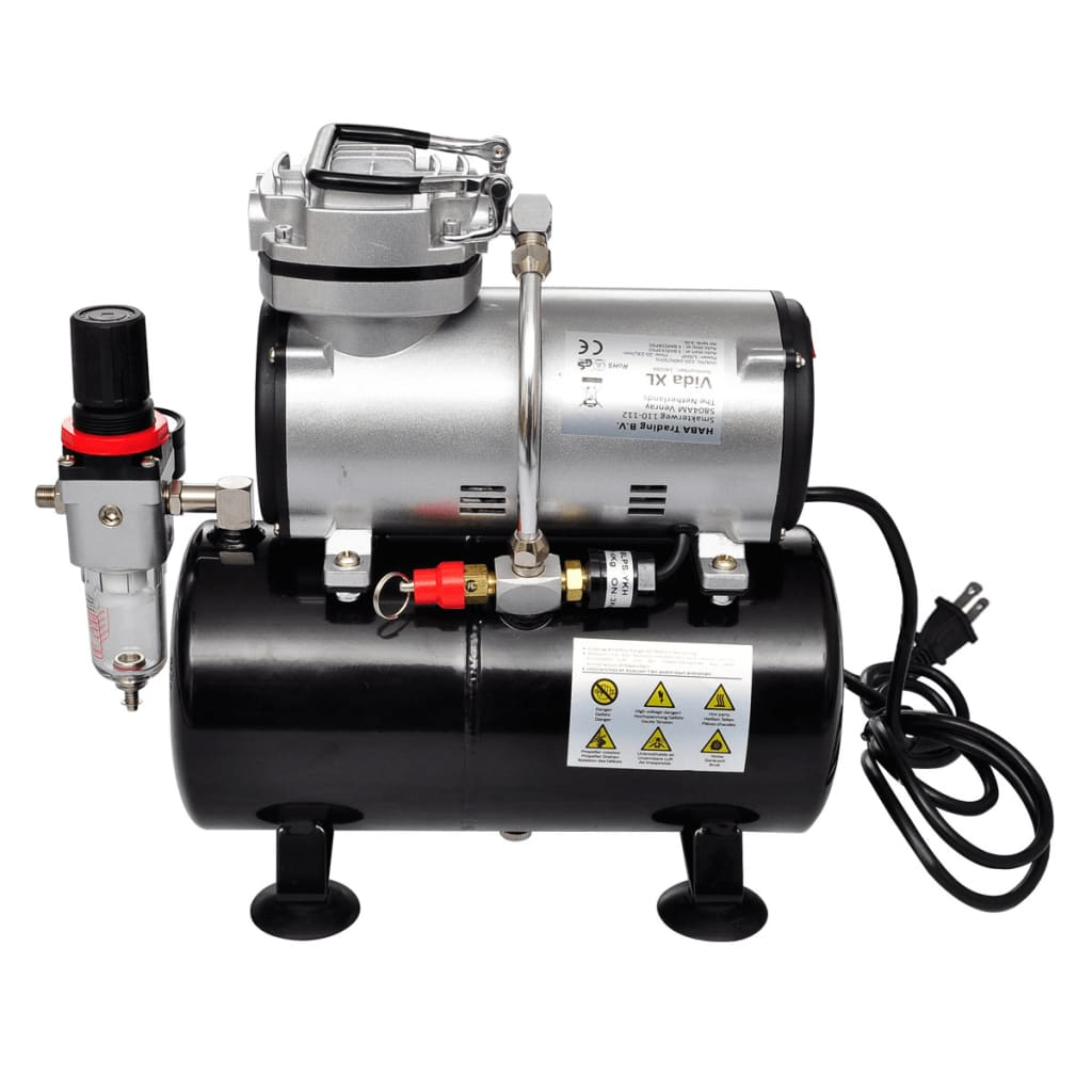 Airbrush Compressor Set With 3 Pistols 1 X 5 9 Quot X 1
