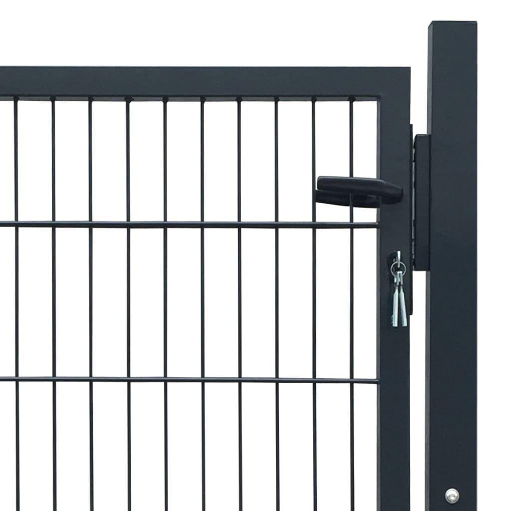 acheter portillon de jardin 2d single gris anthracite 106 x 130 cm pas cher. Black Bedroom Furniture Sets. Home Design Ideas