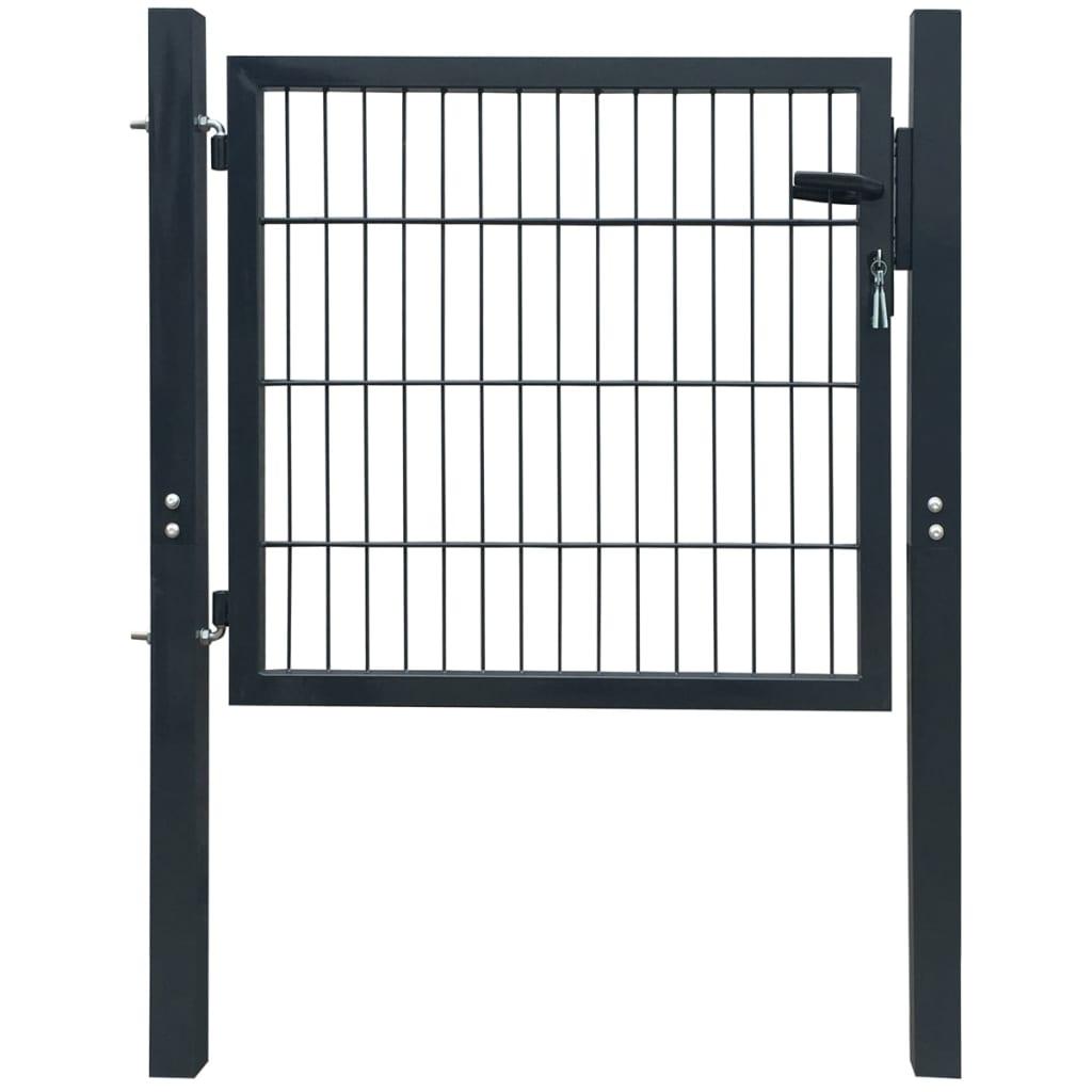 vidaXL 2D kerítés kapu 106 x 130 cm antracit zöld szín