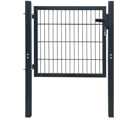 Acheter portillon de jardin 2d single gris anthracite for Acheter portillon