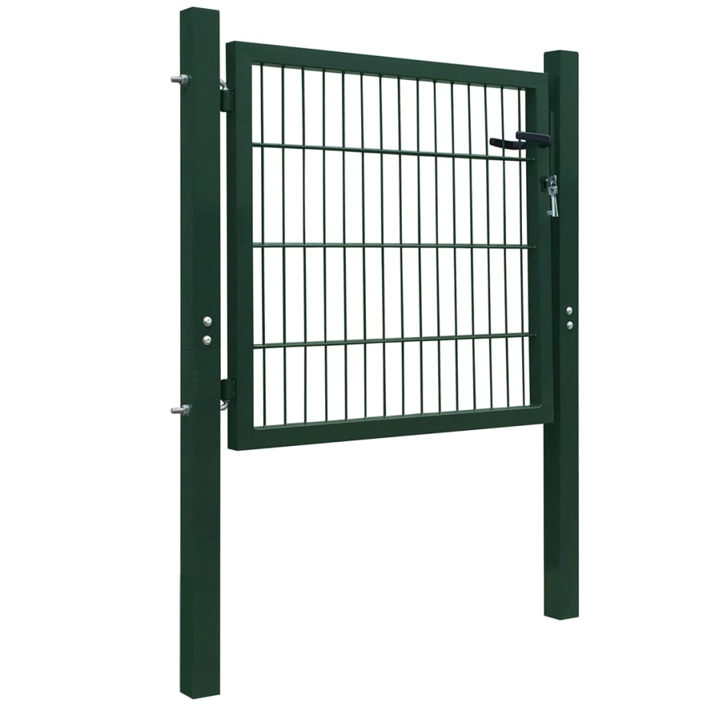 gates singles Driveway gates - legacy estate gate (single 6') height: 6' color: black top style: bell features: two top bars, additional bar on bottom, and rings on top and bottom.
