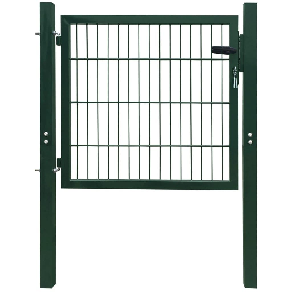 vidaXL 2D kerítés kapu 106 x 130 cm zöld