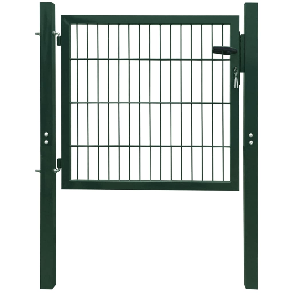 Acheter portillon de jardin 2d single vert 106 x 150 cm for Portillon de jardin metal vert