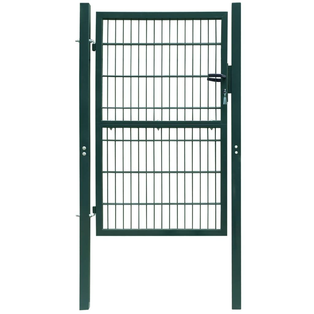 Afbeelding van vidaXL 2D Poort (enkel) groen 106 x 170 cm