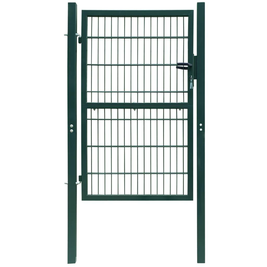 Afbeelding van vidaXL 2D Poort (enkel) groen 106 x 190 cm