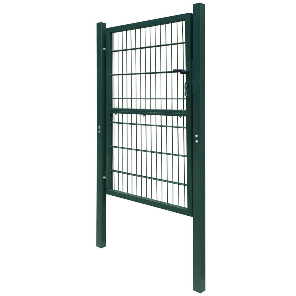 acheter portillon de jardin 2d single vert 106 x 210 cm. Black Bedroom Furniture Sets. Home Design Ideas
