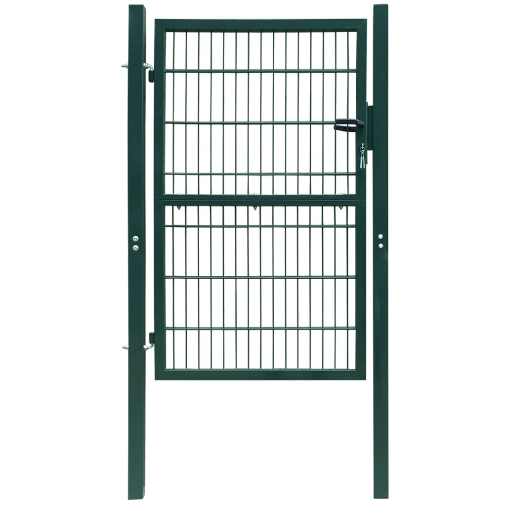 Acheter portillon de jardin 2d single vert 106 x 230 cm for Portillon en solde