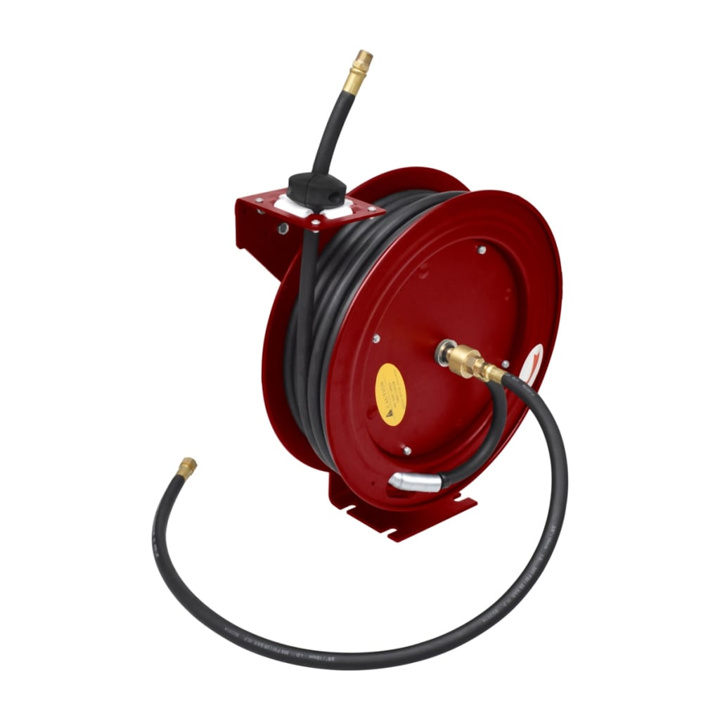 retractable air hose reel air hose reel retractable 49 wall mounted vidaxl 29036