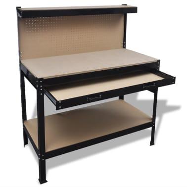 la boutique en ligne banc de travail avec panneau perfor et tiroir. Black Bedroom Furniture Sets. Home Design Ideas