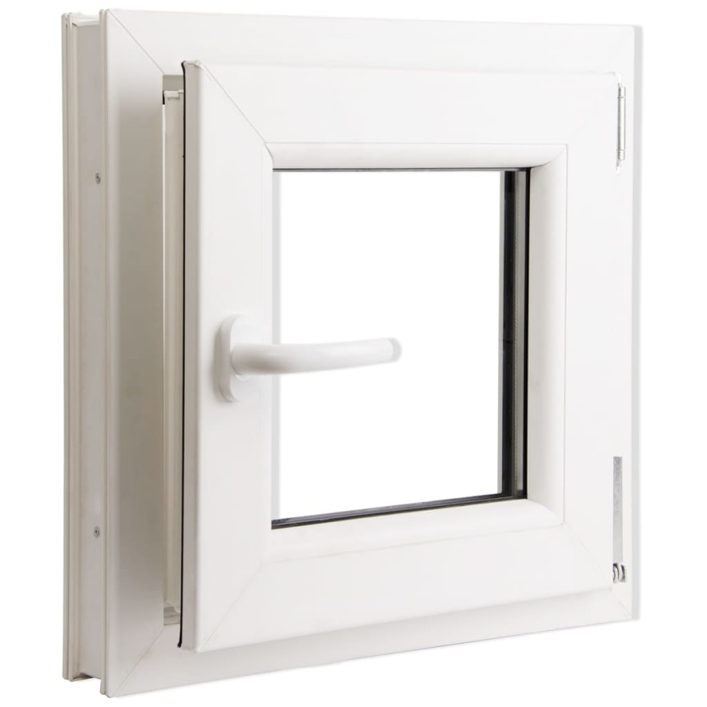 Triple glazing tilt turn pvc window handle on the left for Prix petite fenetre pvc
