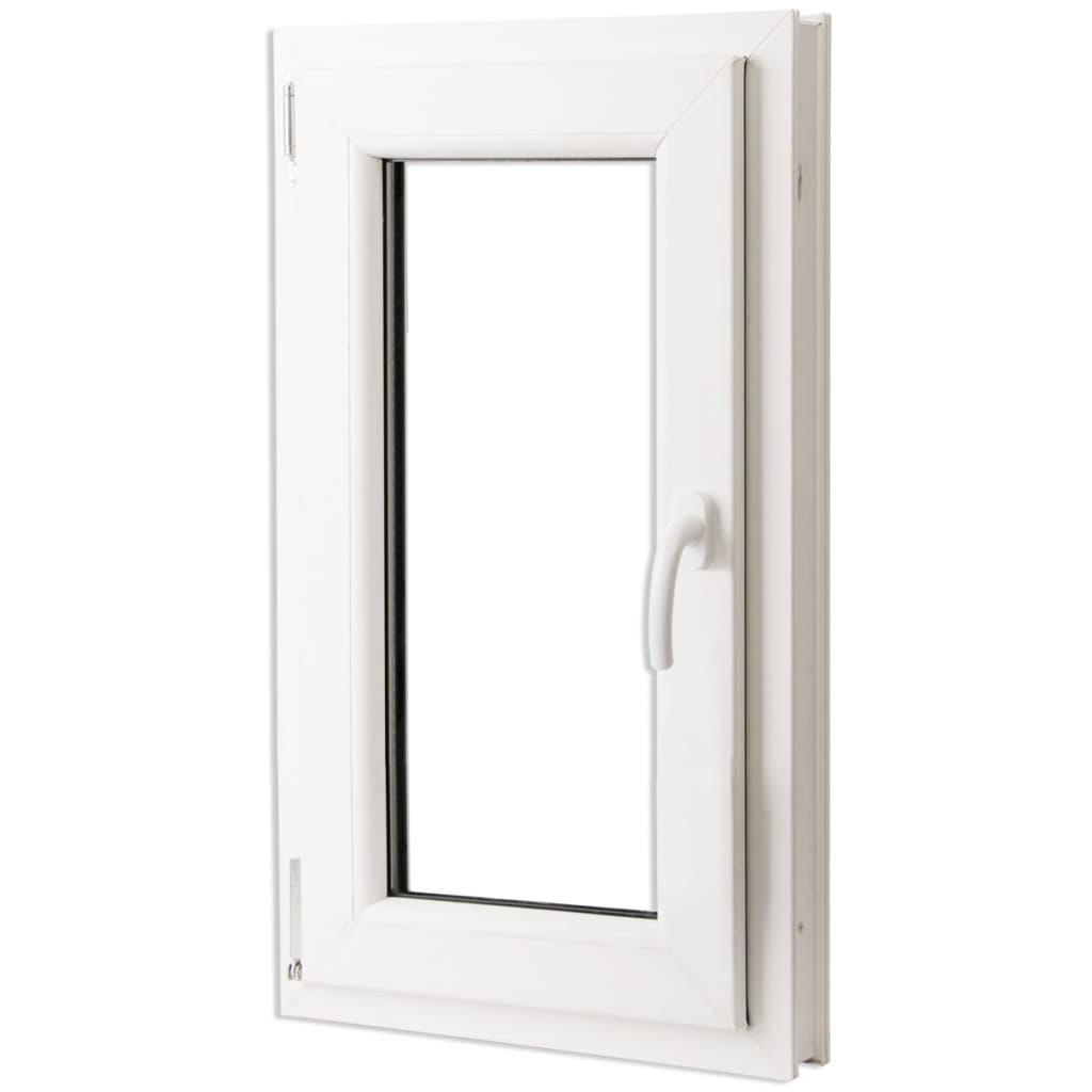Treglasfönster PVC Dreh-kipp handtag på höger sida 600 x 1000 mm