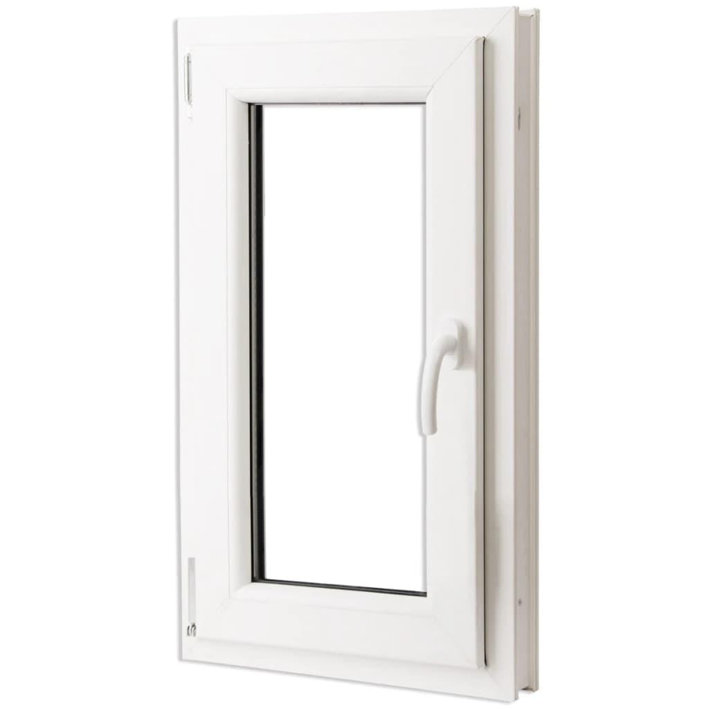 vidaXL Háromrétegű bukó/nyíló PVC ablak jobb oldali kilinccsel 600 x 1000 mm