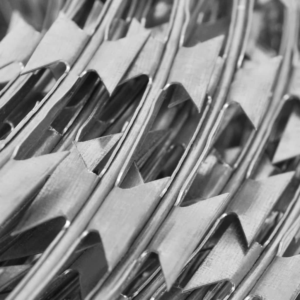 Alambre concertina de acero galvanizado bto 22 con clips - Alambre de acero ...