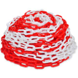 30 m Plastic Warning Chain Red and White