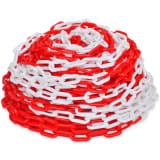 Chaîne de signalisation en plastique rouge et blanc de 30 m