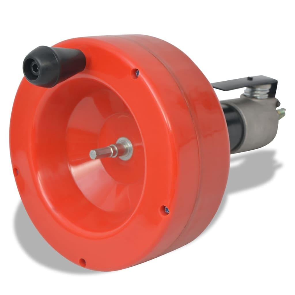 vidaXL-Scovolino-per-Tubature-Tubi-Pulizia-Idraulico-Funzione-Manuale-Trapano-8m
