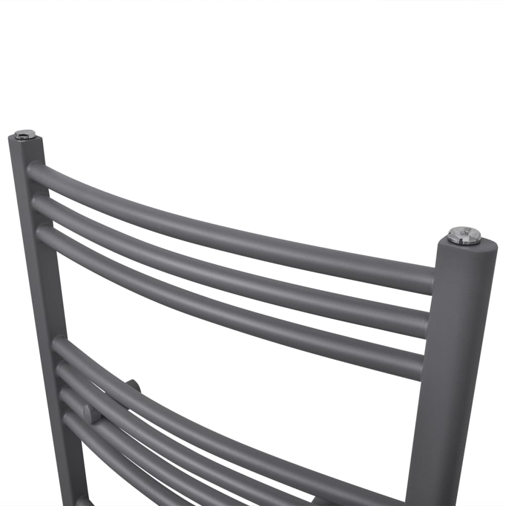 badheizk rper handtuchhalter gebogene rohre grau 500. Black Bedroom Furniture Sets. Home Design Ideas