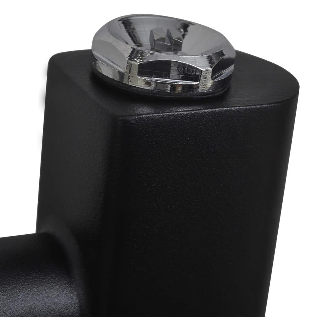 badheizk rper handtuchhalter gebogene rohre schwarz 500. Black Bedroom Furniture Sets. Home Design Ideas