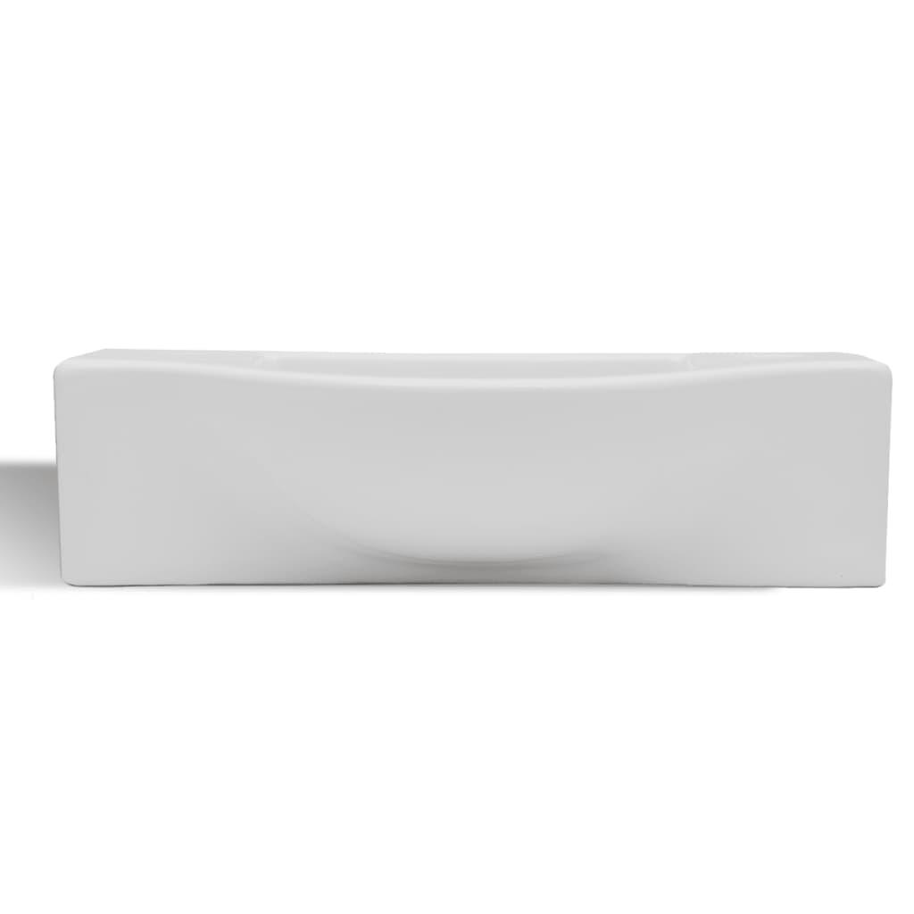 Acheter vasque trou pour robinet c ramique blanc pour for Acheter salle de bain pas cher
