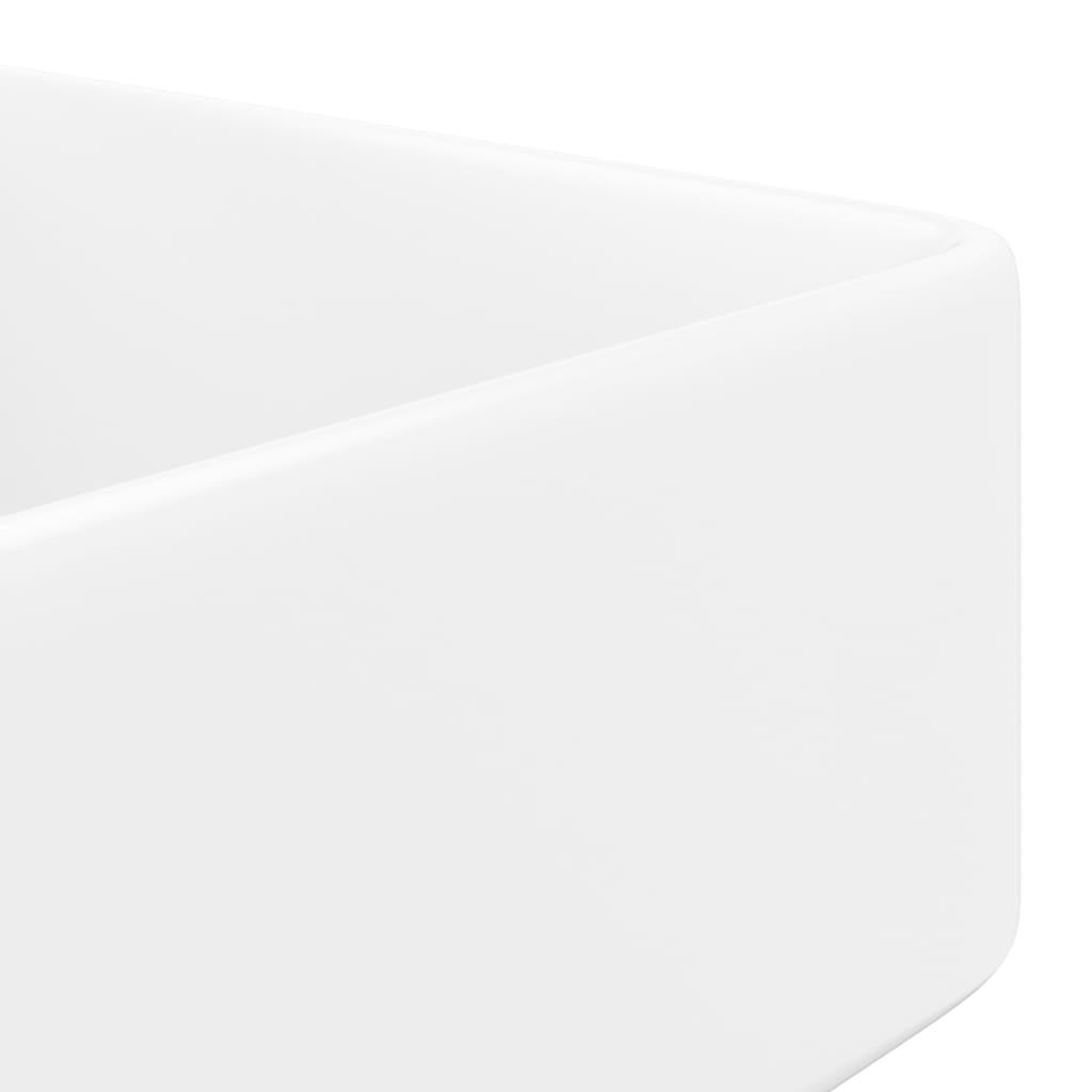 acheter vasque carr trou pour robinet c ramique blanc pour salle de bain pas cher. Black Bedroom Furniture Sets. Home Design Ideas