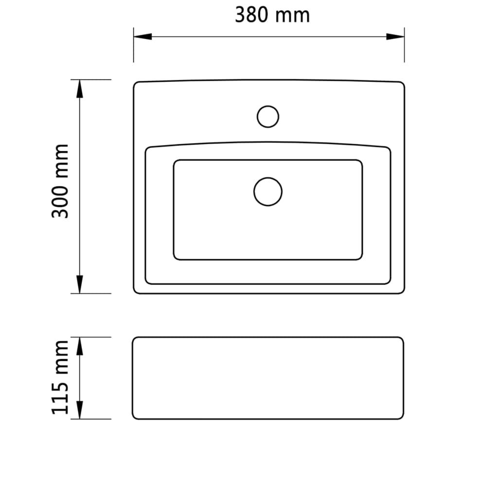 vidaXL-Lavabo-Cuadrado-para-Cuarto-de-Bano-de-Ceramica-Blanco-380x300x115-mm