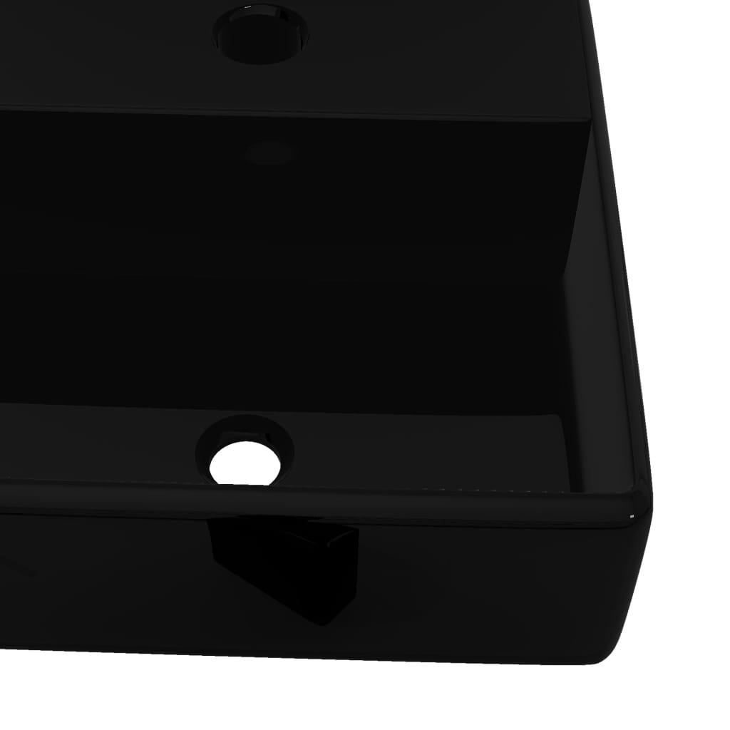 Vidaxl lavandino bagno ceramica nera quadrato con piletta di scarico lavello ebay - Rubinetteria bagno nera ...