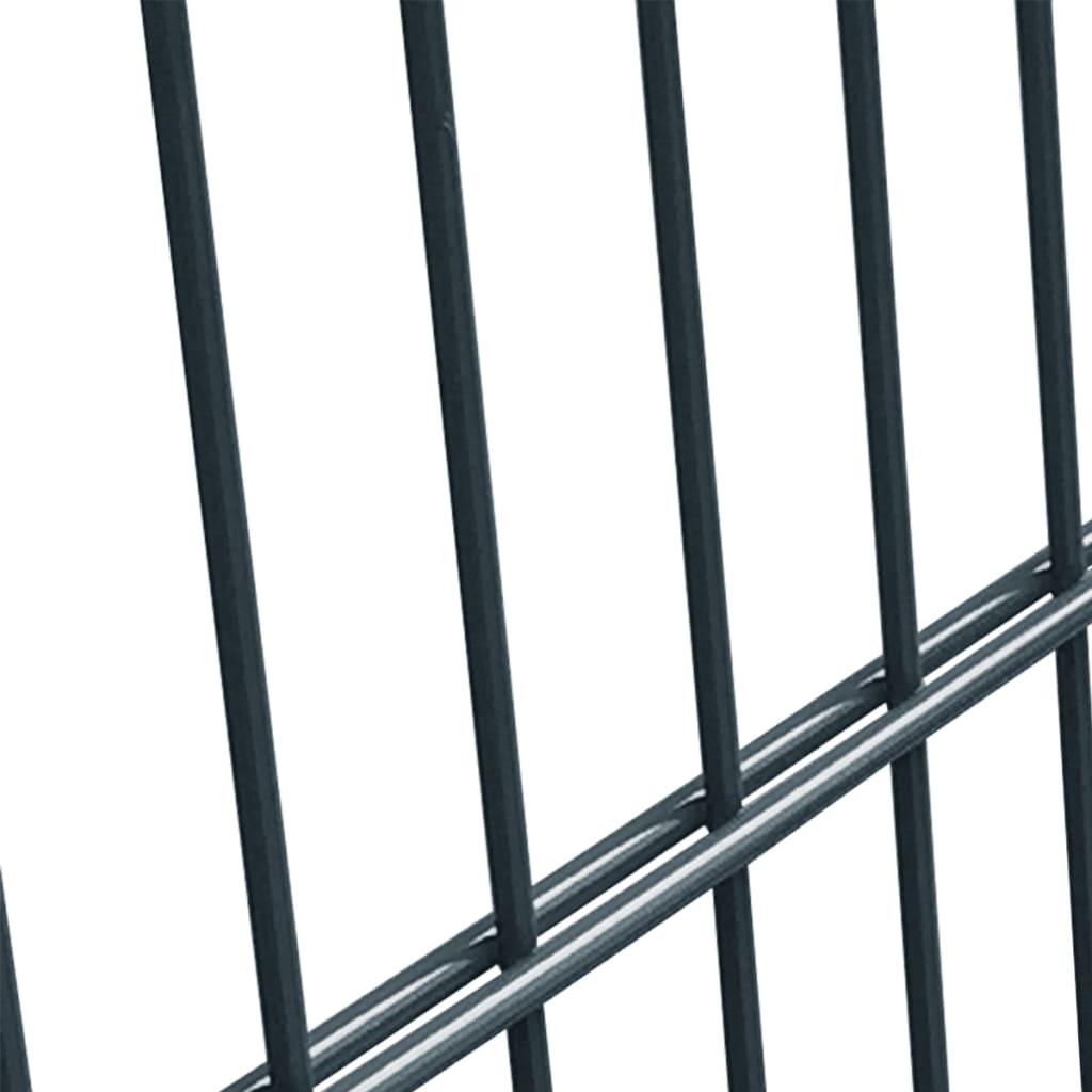 acheter panneau grillag avec poteaux de 2 m de haut gris. Black Bedroom Furniture Sets. Home Design Ideas