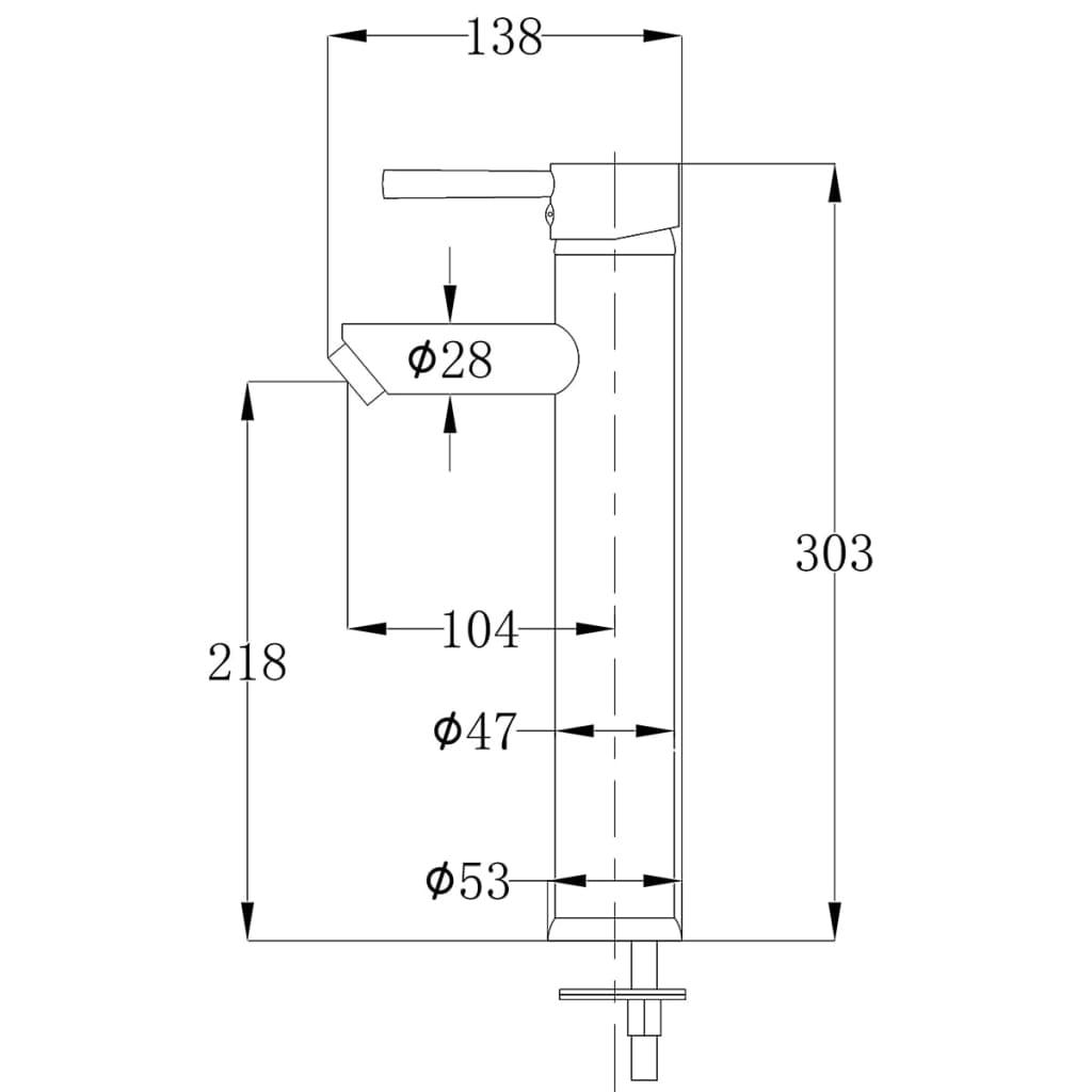 Acheter vidaxl robinet mitigeur pour salle de bains en for Robinet delta salle de bain