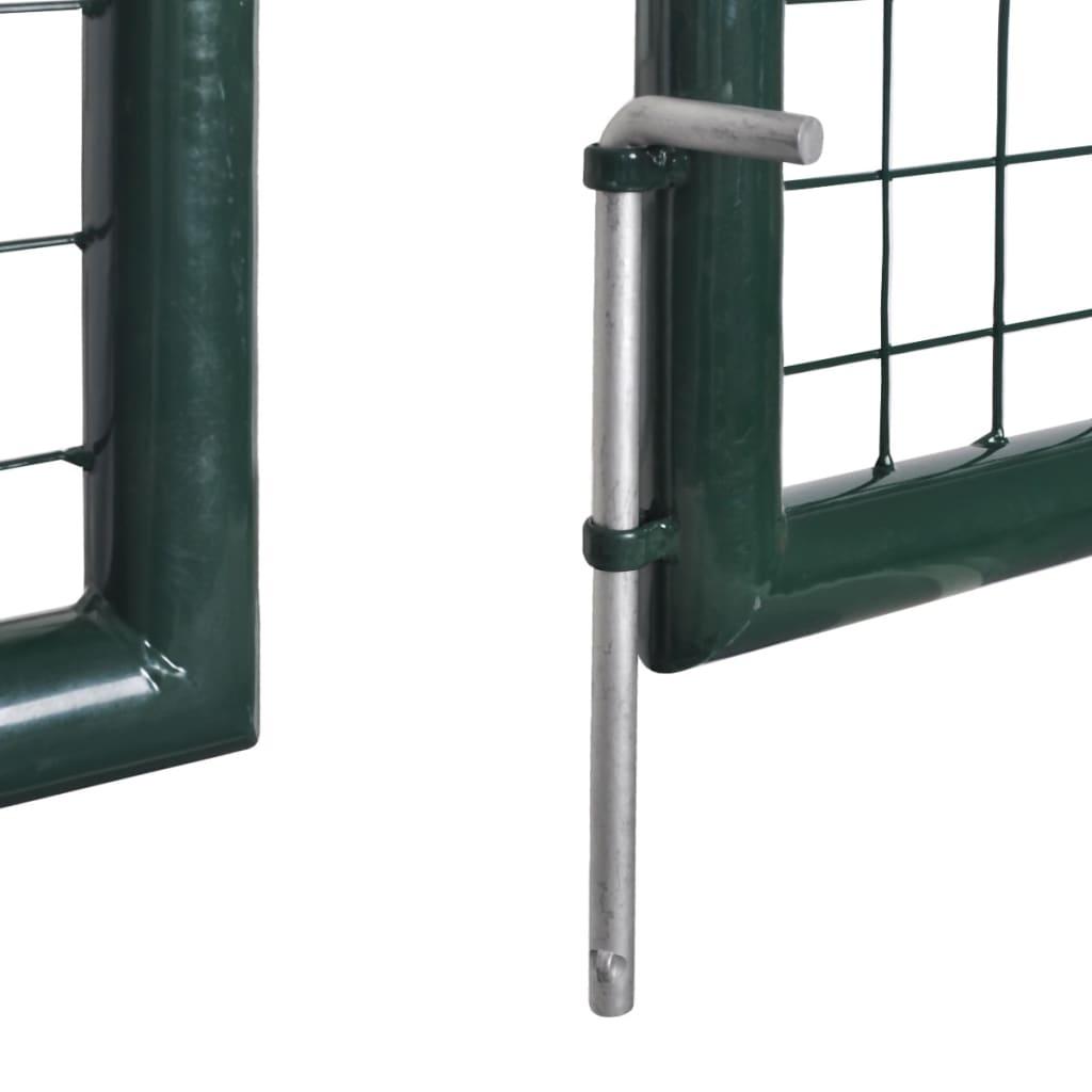 Vidaxl puerta doble de valla con recubrimiento en polvo de - Puertas de valla ...