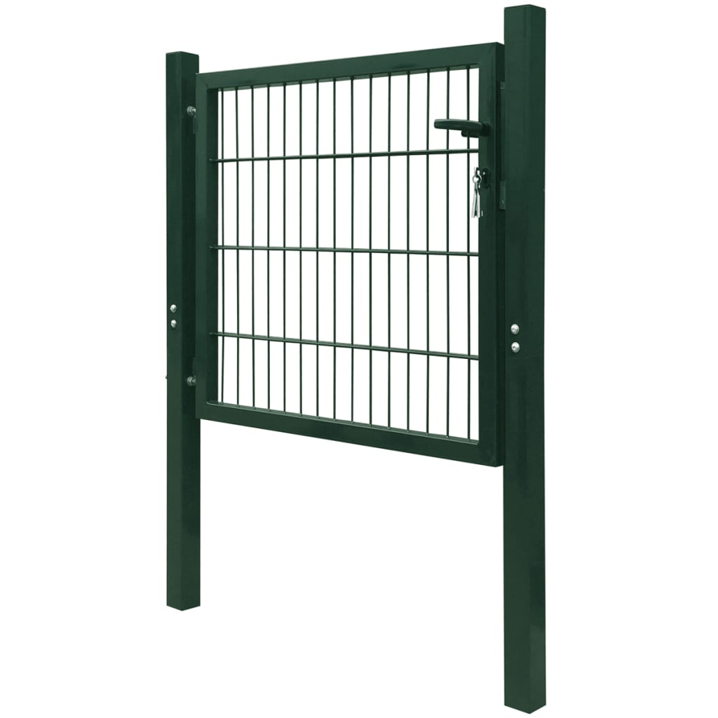 Acheter vidaxl portillon 106 x 150 cm acier vert pas cher for Portillon en solde