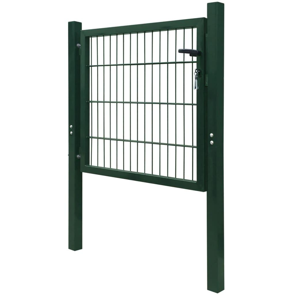 Acheter vidaxl portillon 106 x 150 cm acier vert pas cher for Acheter portillon