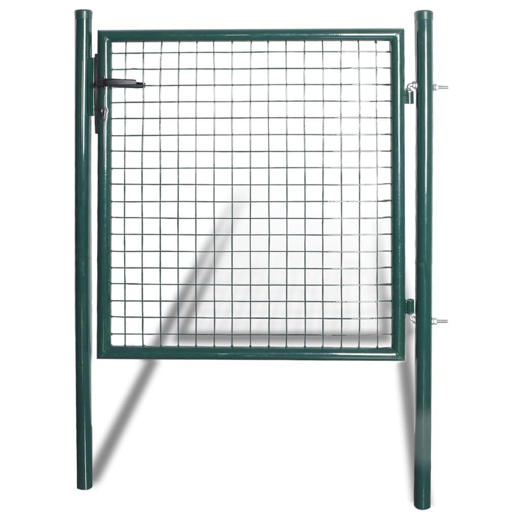 vidaXL porszórt acél kerítés kapu