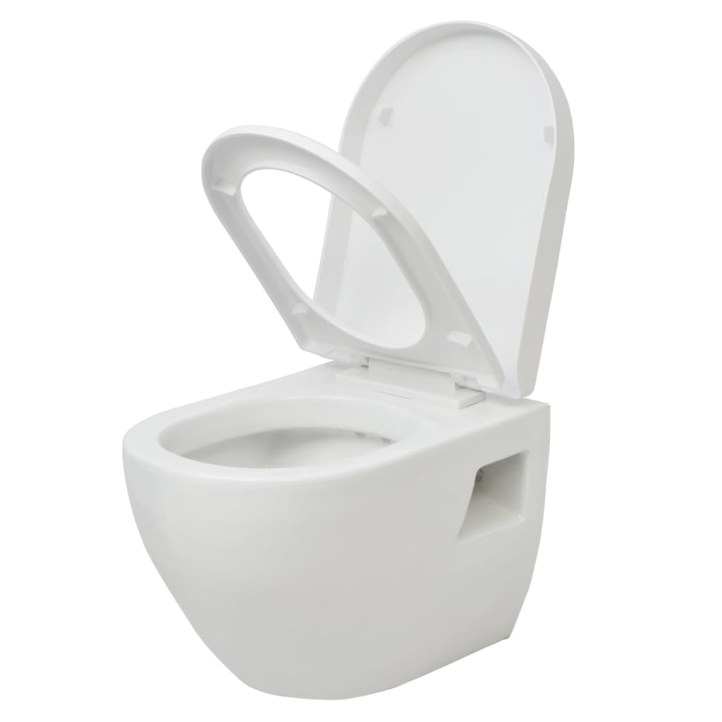 Wall-Hung-Mounted-Toilet-with-Soft-close-Seat-Ceramic-Plastic-Bathroom-WC-White