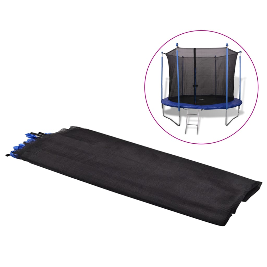 vidaXL 3,05 m fekete PE biztonsági háló kerek trambulinhoz