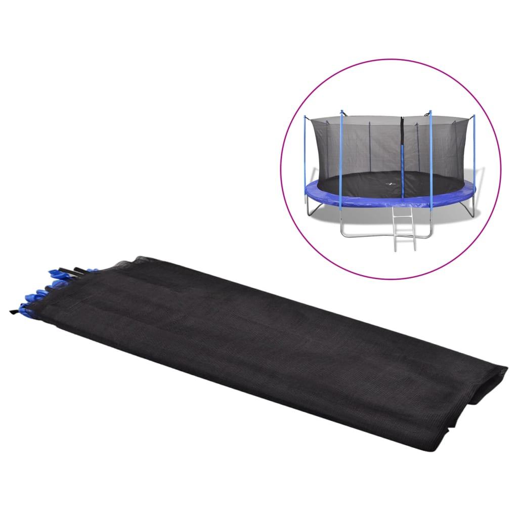 vidaXL PE biztonsági háló kerek trambulinnak 4,26 m fekete
