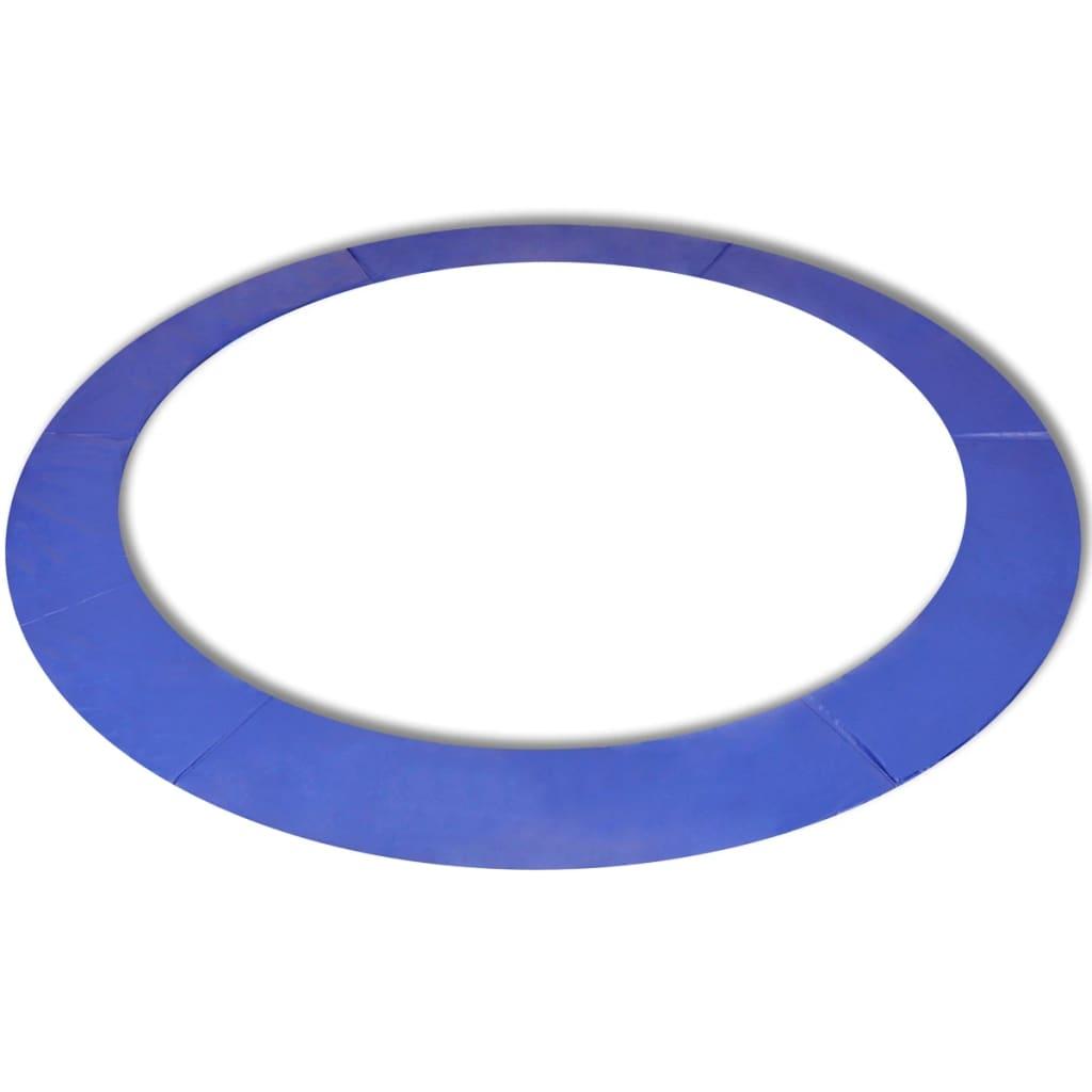 vidaXL biztonsági párna kerek trambulinhoz PE kék 14 láb/4,26 m