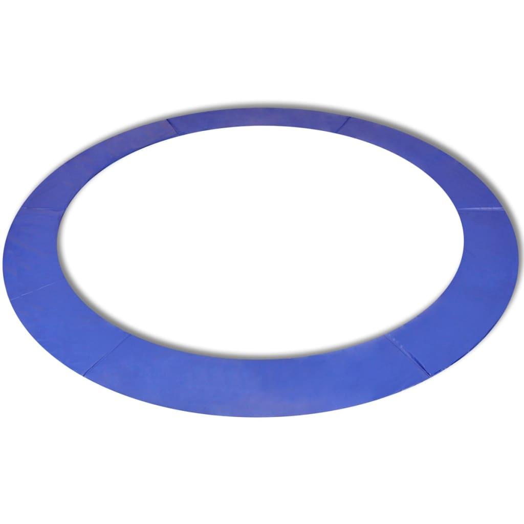 vidaXL Biztonsági hálós kék PE 15 láb / 4,57 m kerek trambulin